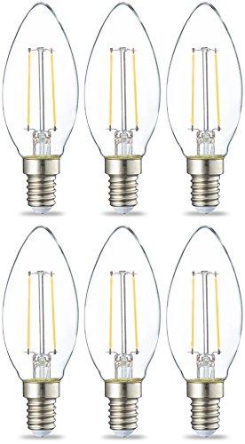 AmazonBasics E14 LED Lampe, Kerzenform, 2W (ersetzt gebraucht kaufen  Wird an jeden Ort in Deutschland