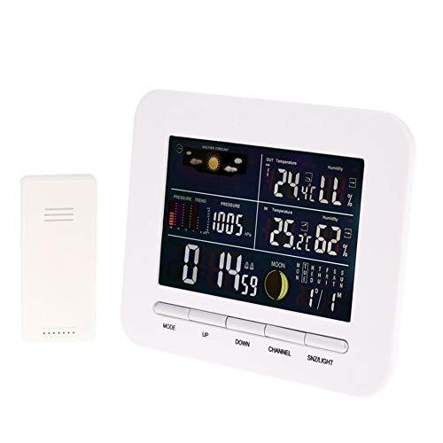 ZDYLM-Y Station Météo sans Fil Intérieur Extérieur avec Prevision Multifonctionnel Une Horloge Baromètre Thermomètre