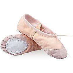 WinCret Zapatillas de Ballet - Alta Calidad Transpirable Zapatos de Ballet Profesional Bailarina Zapatillas media punta de ballet para Niña