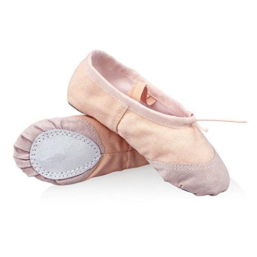 1 Paar Ballettschuhe - WinCret Hochwertig Breathable Ballettschläppchen Ballerina Schuhe spitzenschuhe für Mädchen (Kleinkind / Kleine Kind / Groß (Revolution Dance Kostüm)