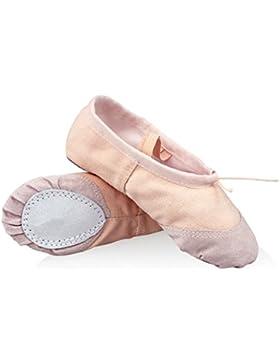 WinCret Zapatillas de Ballet para Niña - Alta Calidad Transpirable Niños Zapatos de Ballet - Profesional Bailarinas...