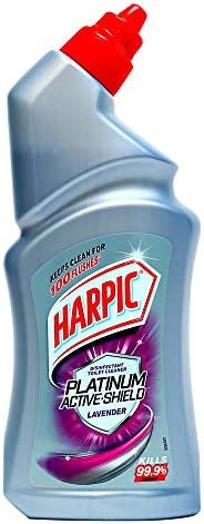 Harpic Platinum Active-Shield Disinfectant Toilet Cleaner, Lavender - 500 ml