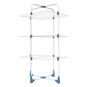 Minky Tower Indoor Airer, 15m drying space, Silver