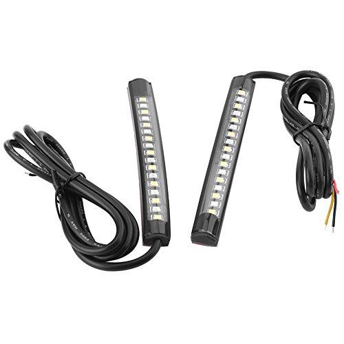 2 x 12 V 17 SMD Keenso Universal Flexible Auto LED Neonröhren Bremslicht Blinker Rücklicht Streifen Innen für Motorrad Bike ATV Auto RV