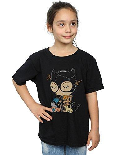 Pepe Rodriguez Mädchen Cat Lady T-Shirt Schwarz 5-6 years (Dunklen Cat-womens T-shirt)