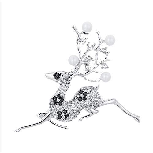 CXYJ Fawk Brosche Brosche Brocade Pearl Pin Feste Kleidung Dekoration Kreative Damen Accessoires 59 X 55mm Brocade Pearl