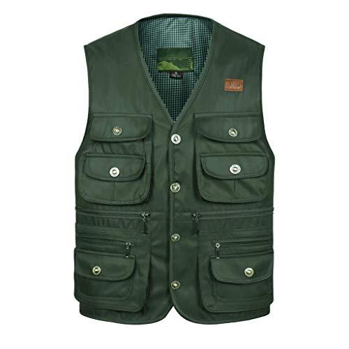 Outdoor Männer Vest,Multi Pockets Angeln Fotografie Weste Baumwolle Bequeme Geeignet Für