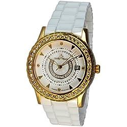 Stella Maris - STM15Z5 - wrist watch for women - quartz movement analog display - white dial - white ceramic bracelet