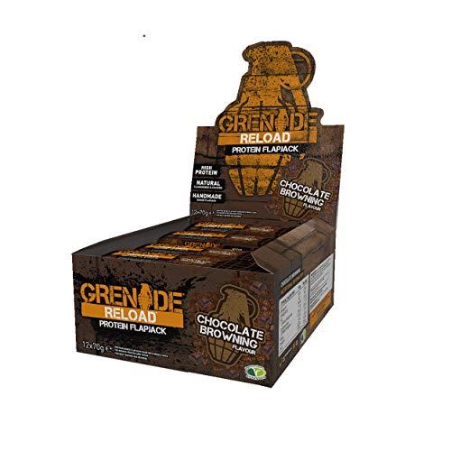 Grenade Reloaded Flapjacks Chocolate Browning 12X70Gr