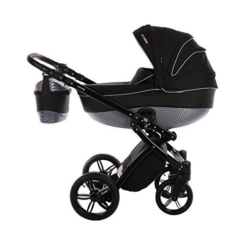 KNORR-BABY Alive be Carbon Kombikinderwagen Design 2017 Baby, schwarz/weiß