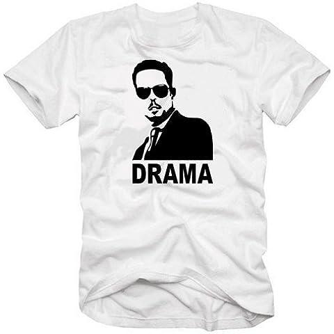 Dramma–T-shirt vers. Colori S–XXXL, bianco, XXXL