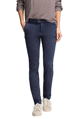 edc by ESPRIT in Vintage Waschung-Pantaloni Donna,    Blu (Nave 400) W36/L32