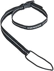 Icetools–Correa elástica, diseño fino, talla universal, color negro Negro negro Talla:talla única