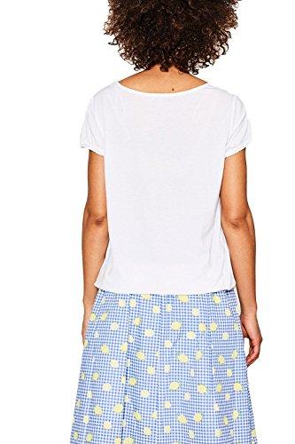 edc by ESPRIT Damen T-Shirt 067cc1k056 Weiß (White 100)