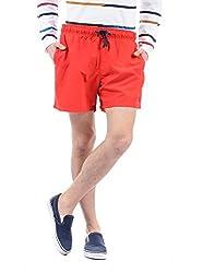 IZOD Mens Poly Viscose Shorts (8907259731773_ZMST0004_30_Red)