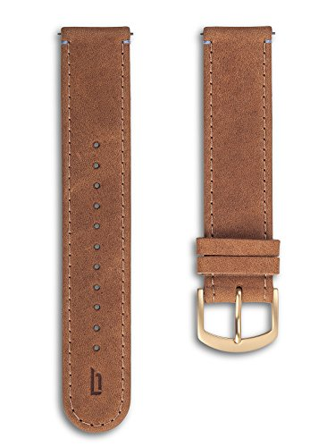 Lilienthal Berlin - Made in Germany – Wechselarmband, vegetabil gegerbtes Leder L1 (Farbe: hellbraun