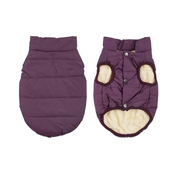 Kismaple Dog Cosy Fleece Jacket Winter Lined Coat Clothes Warm Padded for Small Medium Large Dogs 1