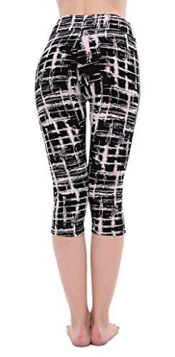 EOZY Leggings Slim De Sport Imprimé Femme Collant Pour Running Yoga Fitness E