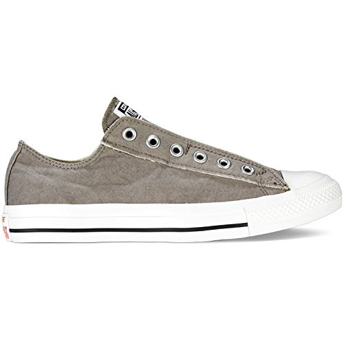Converse Little Kids Chuck Taylor All Star Slip (12.5 M US Little Kid, Charcoal White) (Converse Slip-charcoal All Star)
