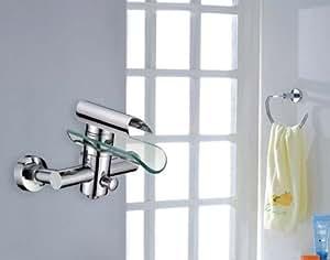 einhebel design glas wannen armatur massiv badewanne. Black Bedroom Furniture Sets. Home Design Ideas
