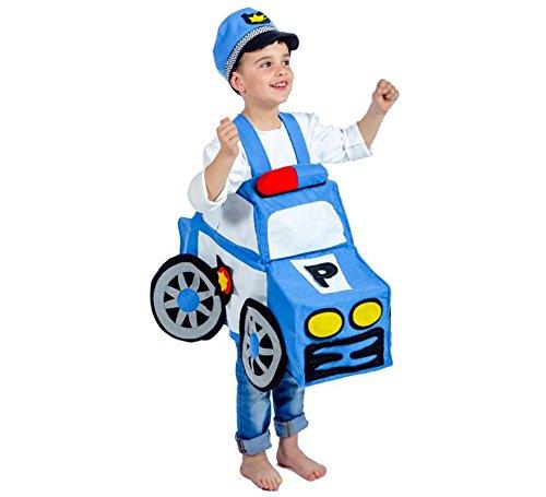 Imagen de disfraz de coche policía infantil en talla única