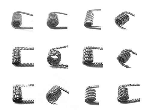 Set 2, 12 unterschiedliche Fertig Coil Spulen für RDA, RBA