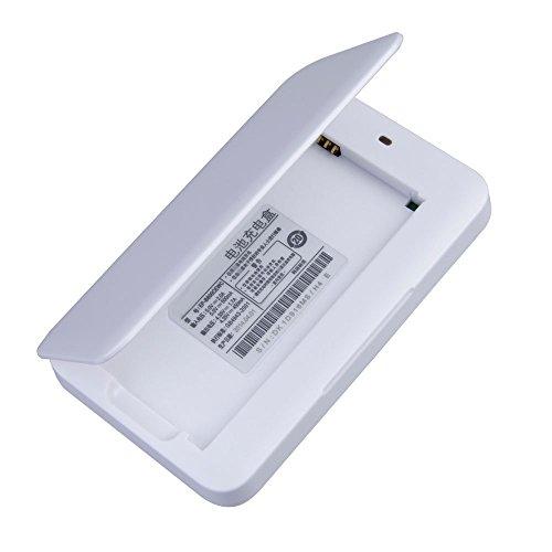 Android-home-dock (Absolute Qualität hohe Qualität Portable Zusätzliche Ersatzbatterieladegerät Kit Dock für Samsung Galaxy i9600 S5 White von G4GADGET®)