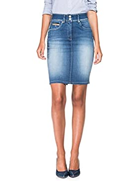 SALSA Falda de talle alto que disimula la barriga - Secret Push In