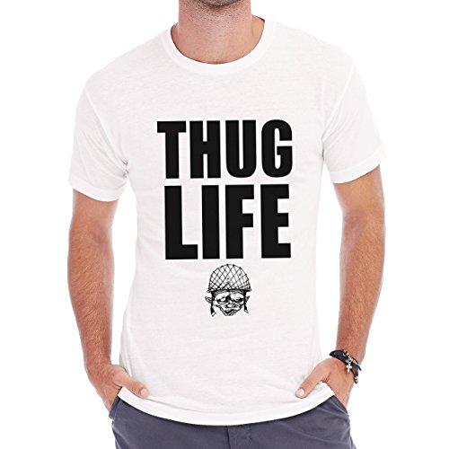 Thug Life Swag Gangster Soldier Herren T-Shirt Weiß