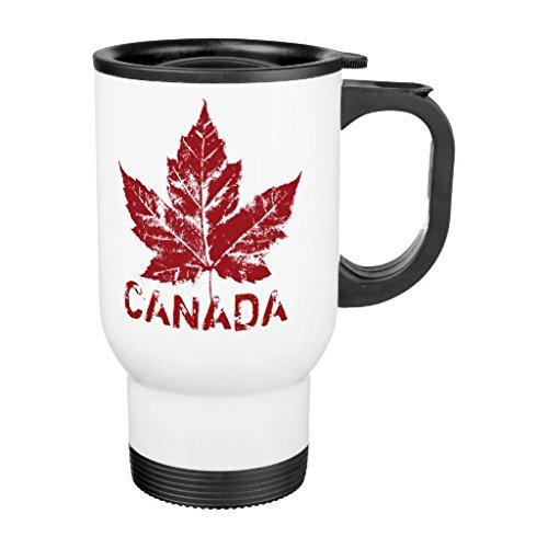 Bandera de Canadá Souvenir taza de viaje con asa única tazas de viaj