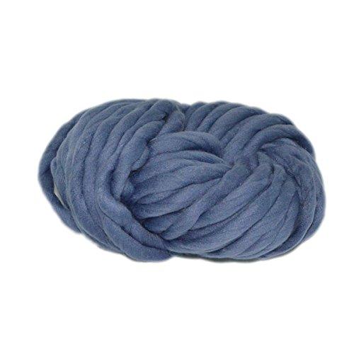 mengcore 1250g Wolle Garn reine Wolle Super klobigen Strickgarn, grob, DIY handgefertigt Strick Halstuch Decke Crochet dunkelgrau (Garn Chunky Merino)