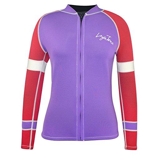 LayaTone Tauchen Jacke 3mm Neopren Jacke Wassersport Neoprenanzug Damen Wetsuit Top Rash Guard Neopren Tauchen Top