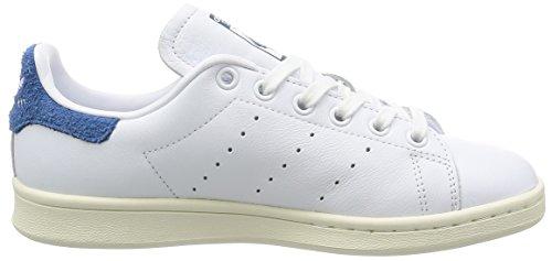 adidas Damen Stan Smith Sneakers Elfenbein (White/core Blue)