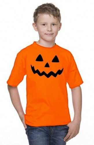 HALLOWEEN T-SHIRT Kinder orange (Kostüme Sport Blut Kind)