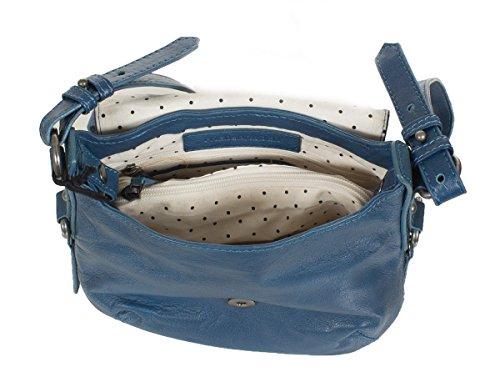 FREDsBRUDER Horseshoe sac à bandoulière en cuir souple (24 x 21 x 8 cm) bleu