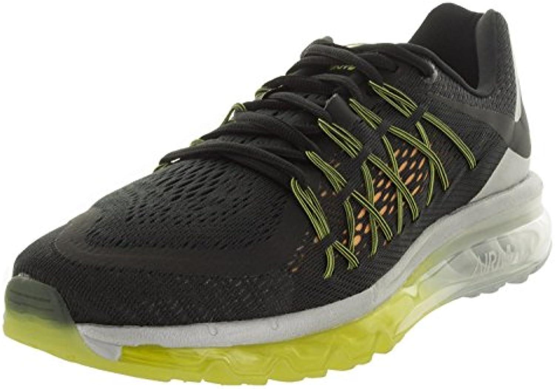 Nike Men'S Air Max 2015 Black/Black/Lsr Orange/Metallic Silver Running Shoe 8.5, Black/Blck/Lsr Orng/Mtllc Slvr...