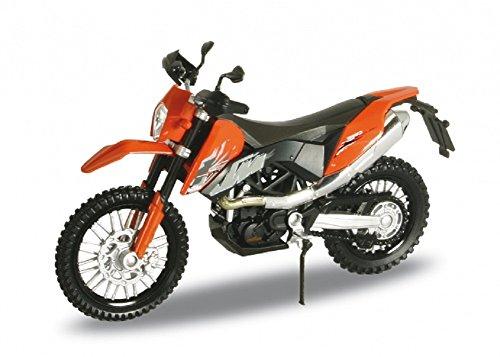 DieCast Modell Motorrad KTM 690 Enduro Orange Metall Welly Motorradmodell 1:18