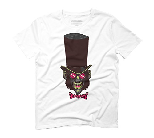 The Mad Hatter Men's 3X-Large White Graphic T-Shirt - Design By Humans (Mad Hatter Bow Tie)