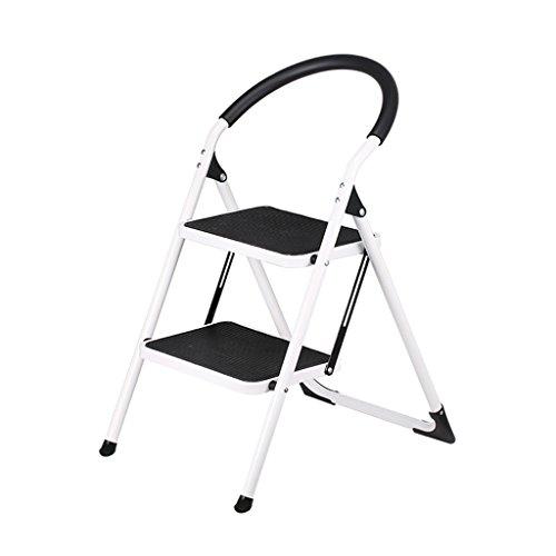Qiansejiyijiajudengzi Stuhl-faltender Schritt-Schemel-Minileiter-zweistufige Leiter-tragende faltende Leiter-Leiter-Edelstahl-Eisen-Schritt-Schemel-Innengleitfreier Haushalt (Outdoor Edelstahl Barhocker)