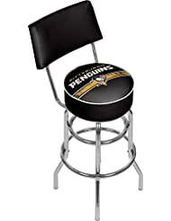 Trademark Gameroom NHL Pittsburgh Penguins Swivel Bar Stool with Back by Trademark Gameroom