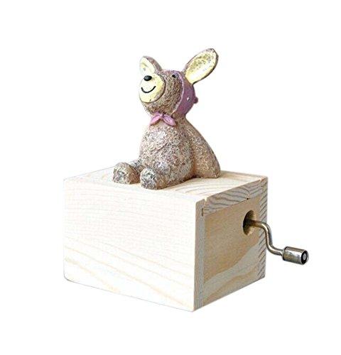 entzückende kleine Hase Musik Dekoration Schnürchen Musikdosen