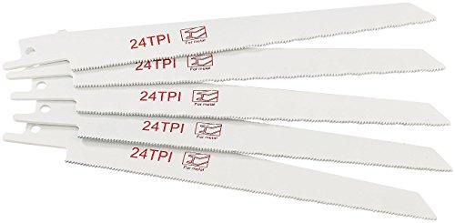 AGT Zubehör zu Akkuwerkzeug Säbel-Säge: Professional Sägeblatt für Metall zur Säbelsäge AW-18.sl, 5 Stück (Akku-Werkzeuge Säbel-Säge)