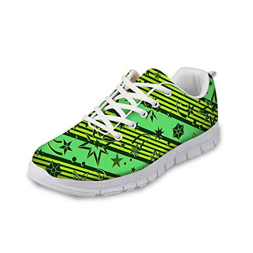 MODEGA Scarpe Sneakers Boemia colorato Corsa degli Uomini di Scarpe Scarpe da Tennis per Gli Uomini Pattini di Disegno Bianchi per Gli Uomini Giovani Lacci delle Scarpe Sca Dimensioni 44 EU|9 UK
