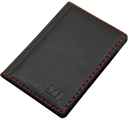 Elegante tarjetero para tarjeta de crédito y tarjeta de visita en varios colores y diseños ( Diseño 4 / Negro)
