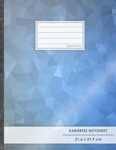 """Kariertes Notizbuch • A4-Format, 100+ Seiten, Soft Cover, Register, Mit Rand, """"Blue Pattern"""" • Original #GoodMemos Quad Ruled Notebook • Perfekt als Tagebuch, Skizzenbuch, Notizheft, Matheheft"""