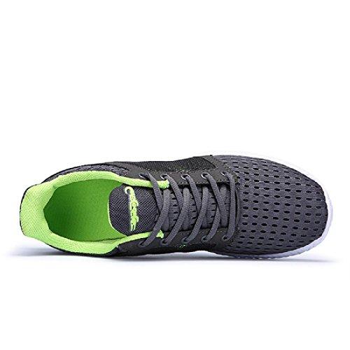 Uomo traspirante Scarpe sportive formatori Escursionismo Confortevole Leggero Scarpe da corsa Green