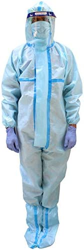 ORILEY ORPP02 PPE Kit with SITRA & DRDO Approved Coverall Suit, Face Shield, Mask, Hand Gloves & Shoe
