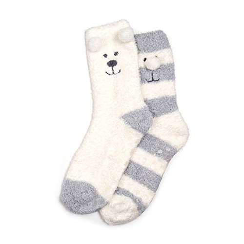 isotoner-womens-ladies-cream-supersoft-slipper-socks-twin-pack