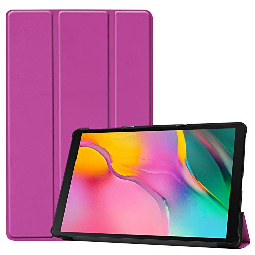 22 - TenYll Samsung Galaxy Tab A 10.1 2019 Funda, CHasis portátil [Ultra-Delgado] [Ultra-Ligero] Smart Tablet PC Holder para Samsung Galaxy Tab A 10.1 2019 Tableta -Púrpura