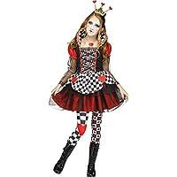 Chicas Adolescentes CORAZONES ROJOS Reina Libro Tv Película Salvaje País de las Maravillas eracebeth Disfraz de Halloween 7-14 AÑOS - Rojo, 12-14 years